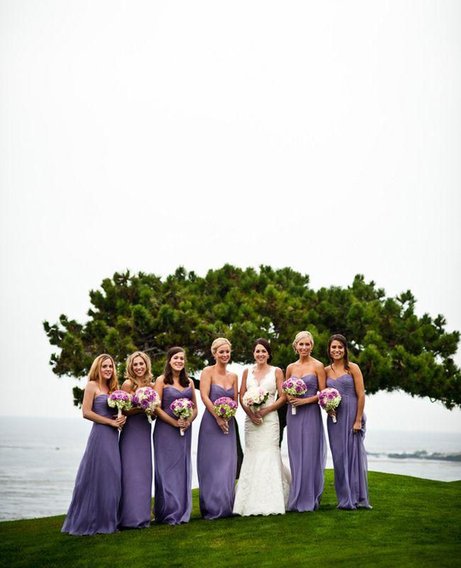 Purple bridesmaid dresses | Davina + Daniel | blog.theknot.com