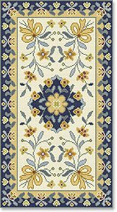 One of the most traditional designs of Arraiolos rugs / carpets