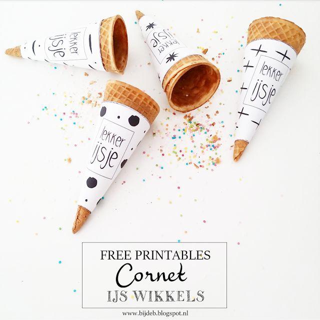 bijdeb: Free printable ijs cornet hoorn wikkels...