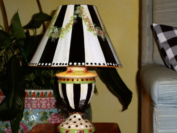Whimsial Hand Painted Lamp and Matching Shade by TresSuzette, $45.00