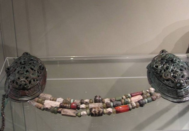Glass Beads and Brooches, Viking Age, Gustavianum Museum, Uppsala, Sweden