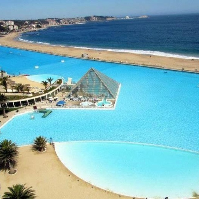 Chile hotel with largest pool 2018 world 39 s best hotels for Largest swimming pool in the us