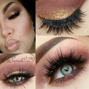 Gorgeous maroon and gold look.. LOVE the lashes | Make Up ...