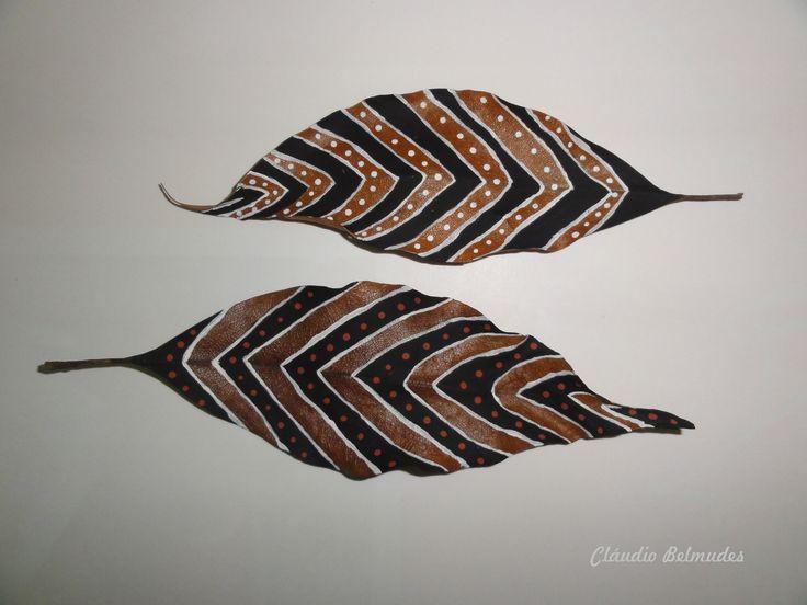 """""""Étnica"""" - (22 x 7 cm) pintura com tinta PVA"""