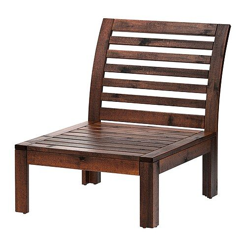 Home      /      ÄPPLARÖ outdoor furniture    ÄPPLARÖ One-seat section IKEA The finish is extra durable and able to withstand outdoor use for a longer period before it must be re-glazed.  Share  ÄPPLARÖ  One-seat section, brown  $79.99