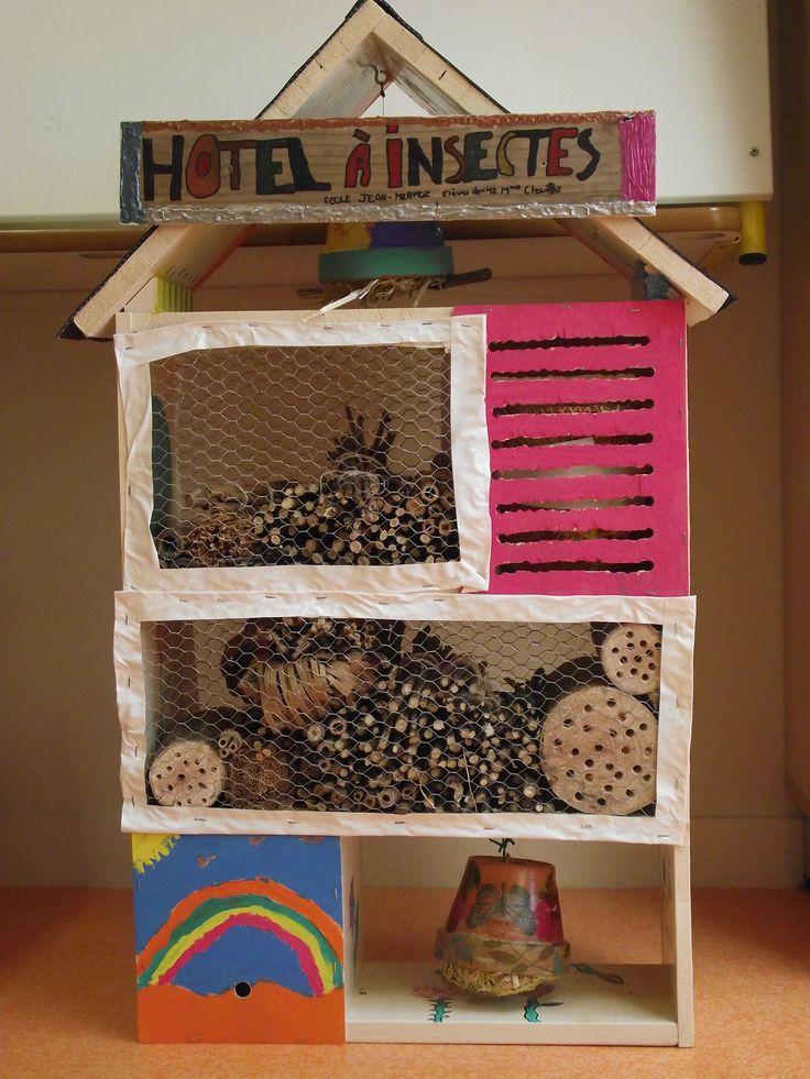 Hôtel à insectes - travail sur le thème de la biodiversité