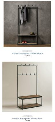 Coat Rack Bench Restoration Hardware