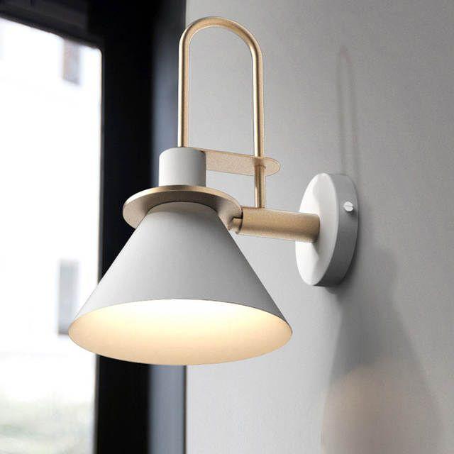 Moderne Einfach Nordic Wohnzimmer Stairway Aisle Schlafzimmer Nachttischlampe E27 Wandleuchte Makrone Schlafzimmerleuchten Wandleuchten Design Nachtbeleuchtung