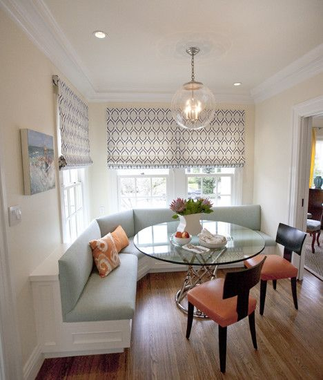 Banquette seating houzz kitchens pinterest built for Built in kitchen seating ideas