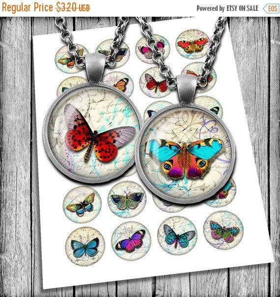 В продаже винтажные бабочки круг образов 1 дюйм, 1,5 дюйма, 30мм, 25мм для стекла подвески, пробки для бутылок для печати изображений, цифровой коллаж Гвуз