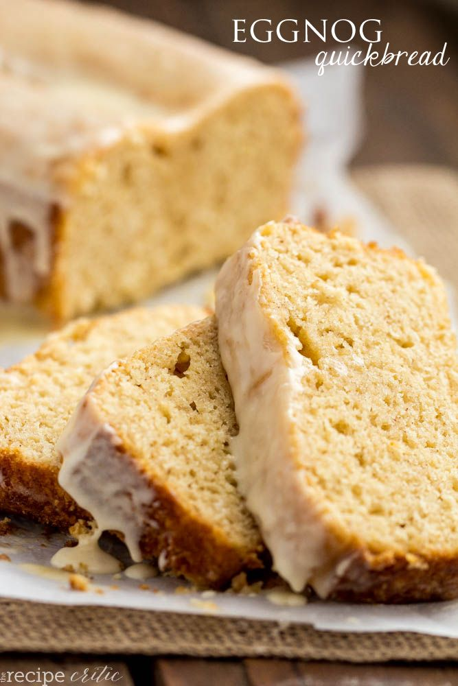 Eggnog Quickbread with an Eggnog Glaze