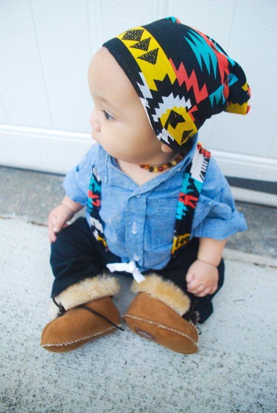 TD/CHILD color tribal beanie by kenziejaws on Etsy, $11.00: