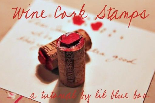 DIY Wine Cork Stamp:: Crafty Mood, Crafts Ideas, Wine Corks, Stamps Apartmenttherapy, Cute Ideas, Minis Stamps, Drink Wine, Corks Projects, Corks Stamps