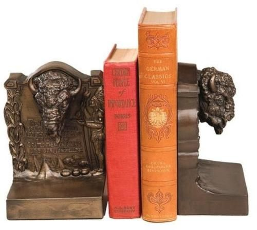 Bookends 20551: Bookends Bookend American West Southwestern Buffalo Head Hiawatha Inscrip -> BUY IT NOW ONLY: $199 on eBay!