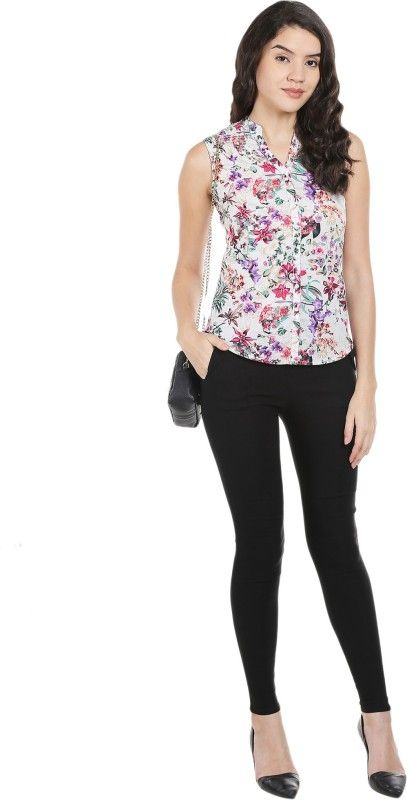 Bombay High Casual Sleeveless Printed Women's Red Top