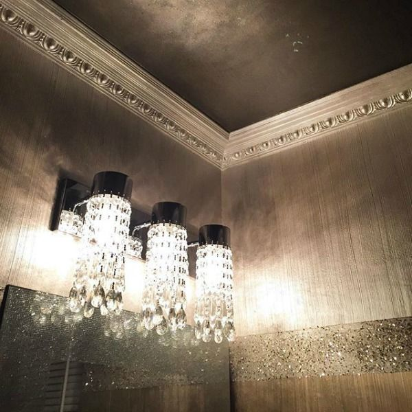 Dazzling, Shimmery Wall Treatment with Modern Masters Products | Project by Art of Shadia | Gray Decorative Finishes on the Cafe Blog