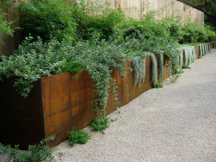 corten steel planters                                                       …