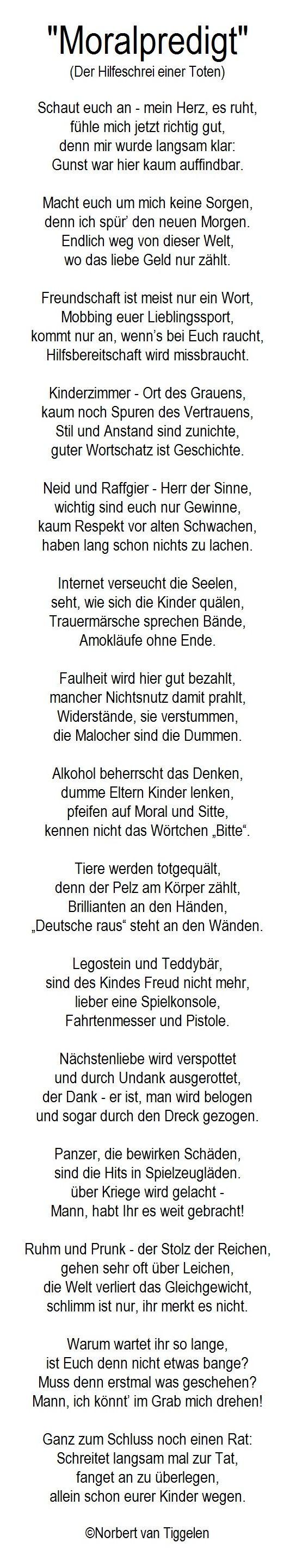 Grabrede, Tod, Van Tiggelen, Gedichte, Menschen, Leben, Weisheit, Welt ·  ErdeLebensweisheiten ZitateDankbarkeitWahrheitenGedankenSprüche ...