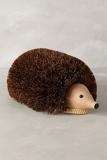 This would be great for the muddy days from rain and snow. Hedgehog Shoe Cleaner #anthropologie