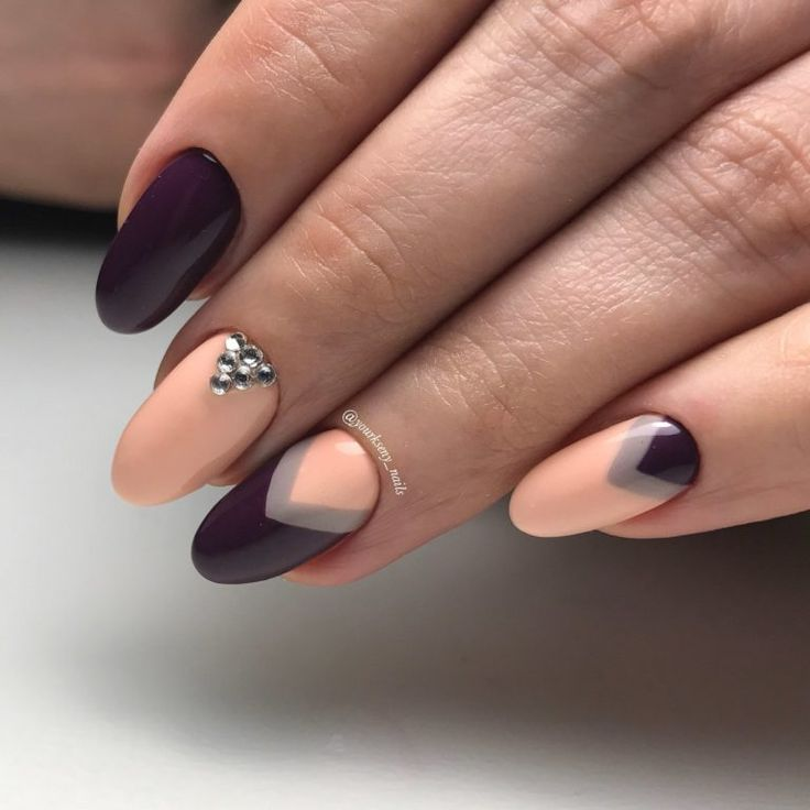 Two Tone Nail Polish Fade: Best 25+ Two Color Nails Ideas On Pinterest