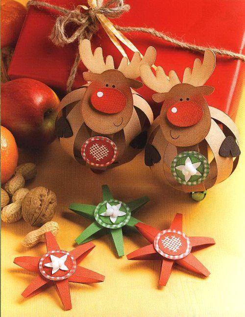 Paper Balls für die Weihnachtszeit - Christiane Steffan - Kling, Rentier, klingelingeling - Rudolph Rentier, Weihnachtsstern