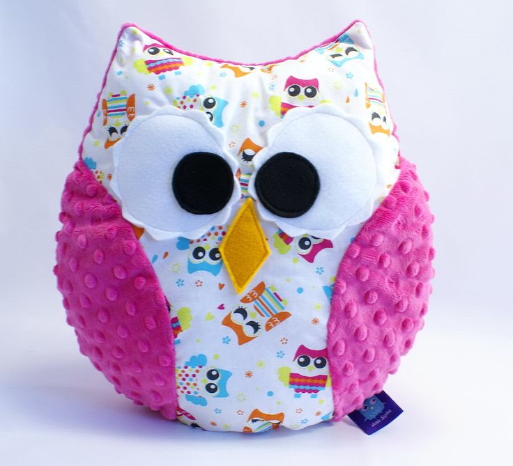 #pillow #owl #plush #plushtoy #minky #littlesophie #pink #fuchsia #kids #forkids #baby #owls #sowa #sowy #poduszka