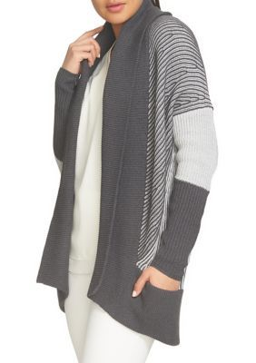 Chaus Women's Shawl Collar Cardigan - Med Htr Gr - Xxlarge Average Or Medium Or Regular