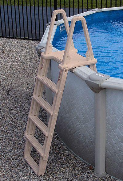 "Above Ground A-FrameAdjustable Ladder Model #7100XEvolution by Confer Plastics  Economical, yet full-featured A-Frame Ladder Adjustable to fit 48"" to 54"" high pools Each side adjusts independently"