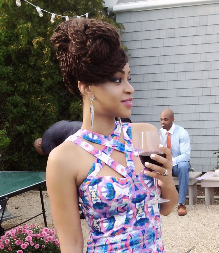 Admirable Updo Twist Updo And Senegalese Twists On Pinterest Short Hairstyles For Black Women Fulllsitofus
