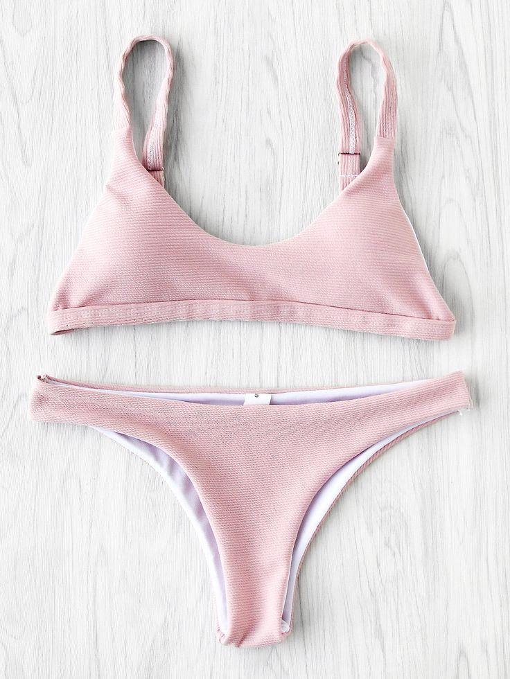 Shop High Leg Textured Bikini Set online. SheIn offers High Leg Textured Bikini Set & more to fit your fashionable needs.