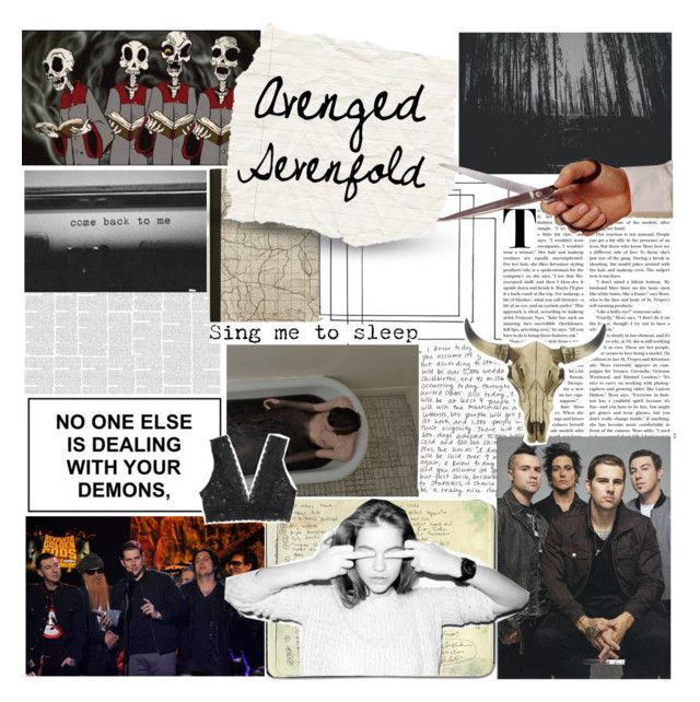 """🌙 Battle of the Bands : round #7"" by ilafabbro ❤ liked on Polyvore featuring art, bands, avengedsevenfold and scroll_position"