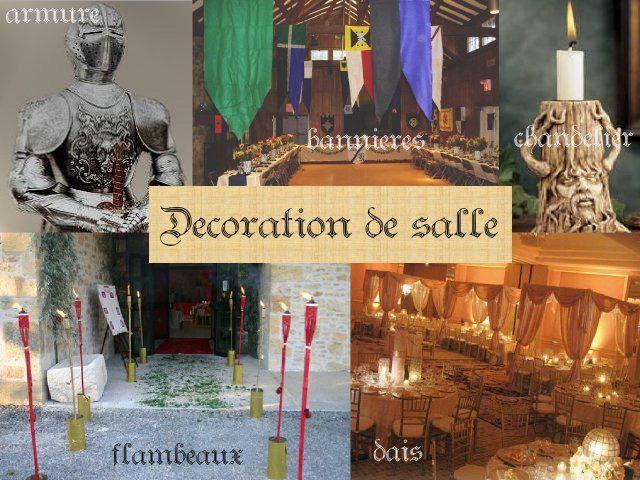 Décoration mariage idées thème médieval décoration de salle