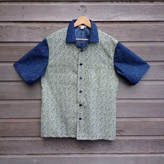 Mens retro bowling shirt / hipster shirt / funky party shirt / rockabilly shirt / Ready to ship