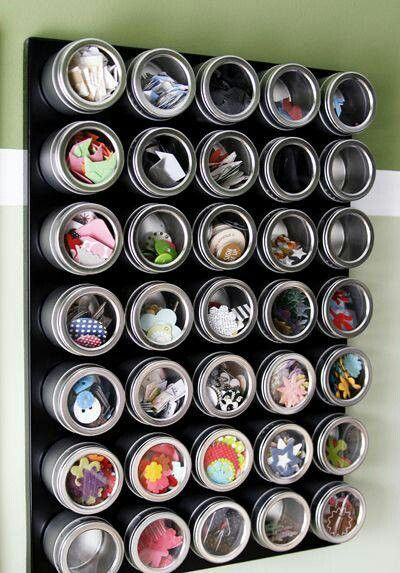 Magnets and Spice Jars
