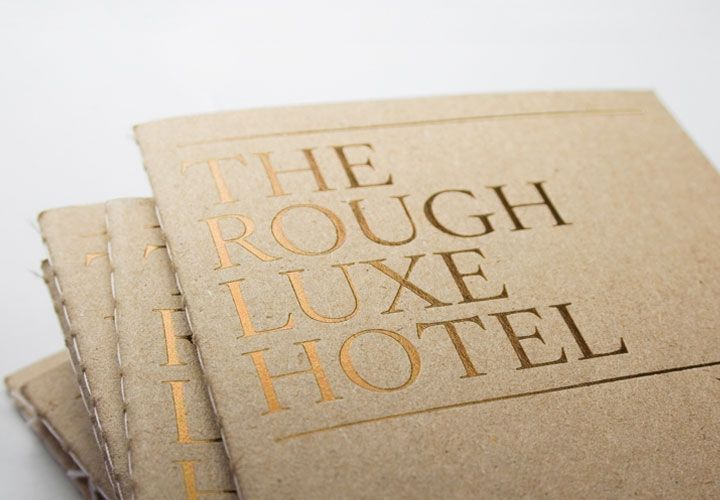 Rough Luxe Hotel / Kings Cross. London. 2008 / #brochure #gold / Marnich