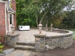 Image result for raised patio steps up
