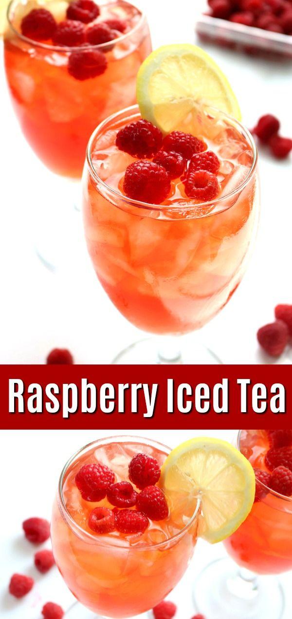 Raspberry Iced Tea - Homemade Fresh Raspberry Sweet Tea Recipe