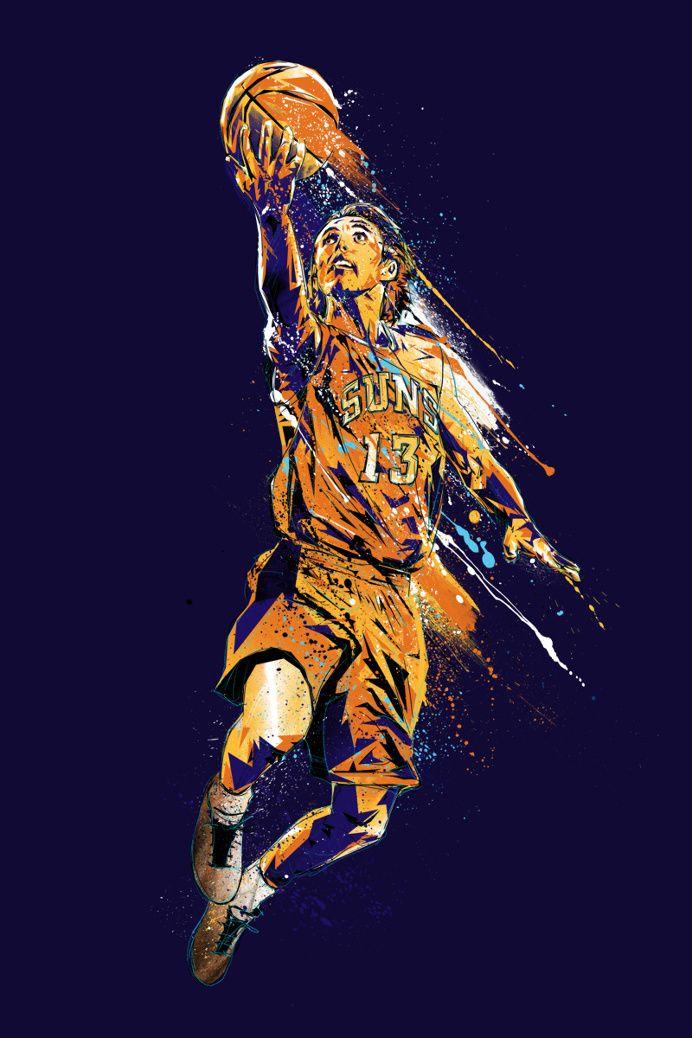 #sports #illustration splash energy mvp steve nash phoenix suns in Fresh