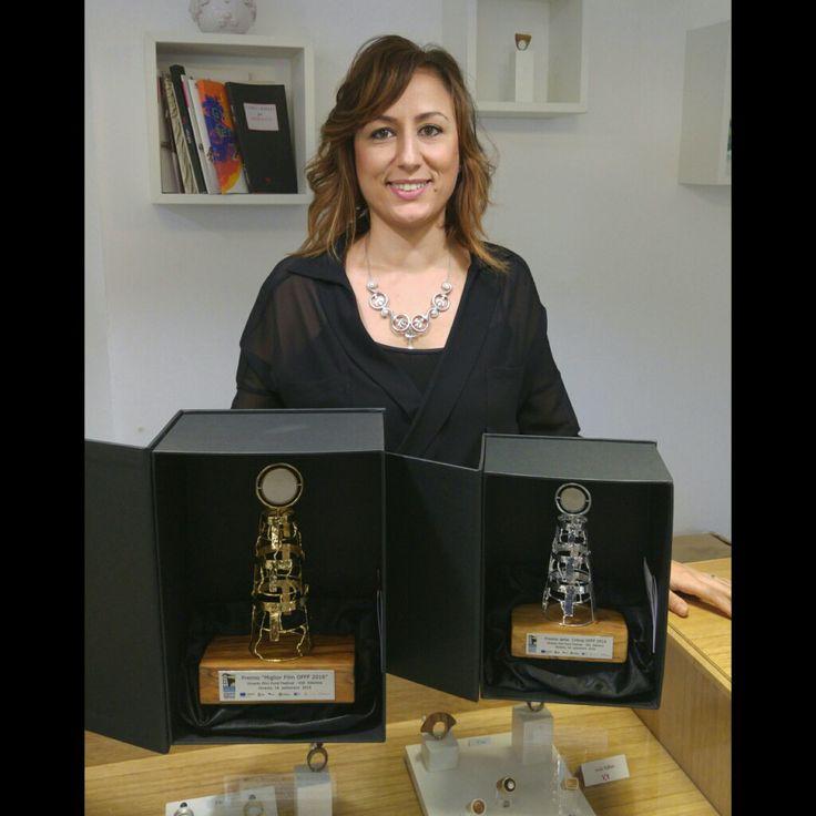 #awards for #offf2016 #robertarisoloartjewels #otranto #sculpture #pietraleccese #olivewood #salento #legnodulivo #farodellapalascia #jewels #handmade #gold #silver www.robertarisolo.it/218/roberta-risolo-realizza-i-premi-per-otranto-film-fund