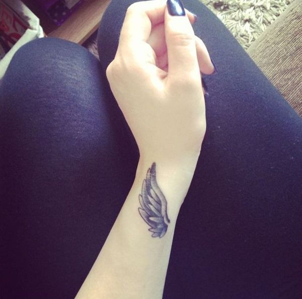 Beautiful Angle Wing Tattoo on Wrist