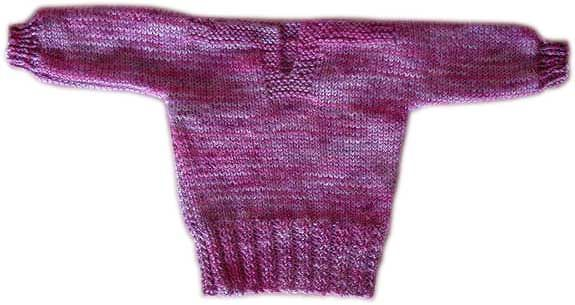 One Piece Sweater Knitting Pattern : Free knitting pattern for a baby sweater/jumper. Knit flat in one piece and s...