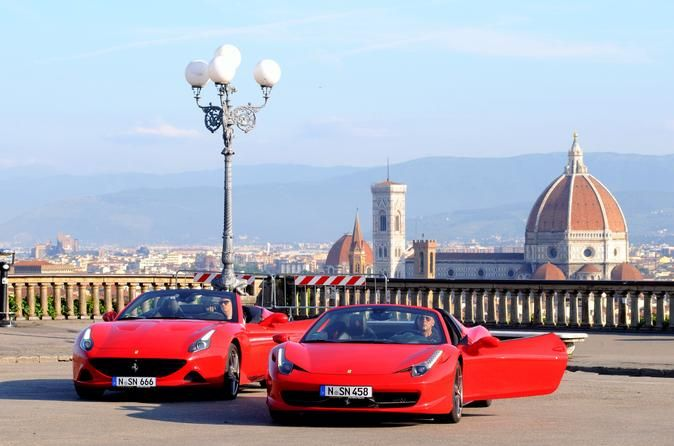 Touring Florence with a Ferrari