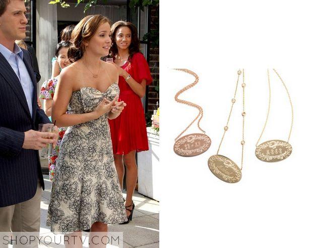 Gossip Girl: Season 2 Episode 2 Blair's Pendant Necklace