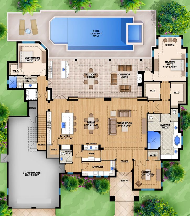 Interactive House Plans Custom Luxury Homes Floor Plans House Design Ideas