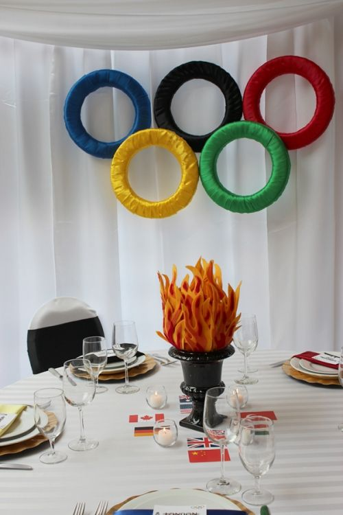decorations for an Olympic themed party