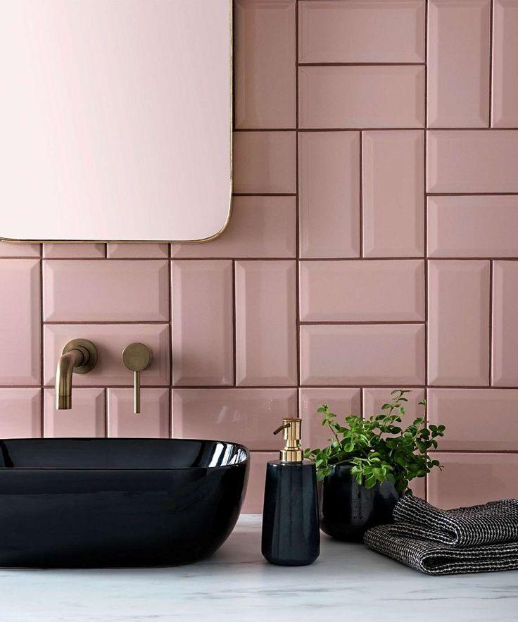 Metro Blush Tile in 2020 Bathroom interior design, Topps