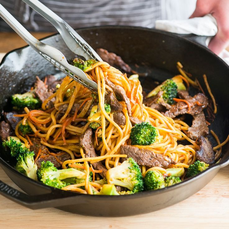 Beef and Broccoli Chow Mein: The classic combination of beef and broccoli make a delicious appearance in this easy chow mein recipe.