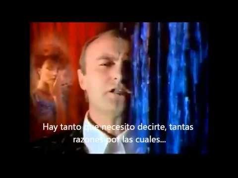 """Phil Collins """"Against all odds"""" SUBTITULADO AL ESPAÑOL"""