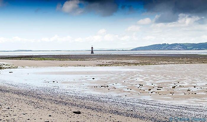 I should have walked out to get a closer pic of Whiteford Lighthouse though this is a realistic view at low tide.