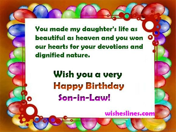 Birthday Messages For Son In Law With Some Best Greetings Photo Happy Birthday Son Birthday Wishes For Son Birthday Wishes